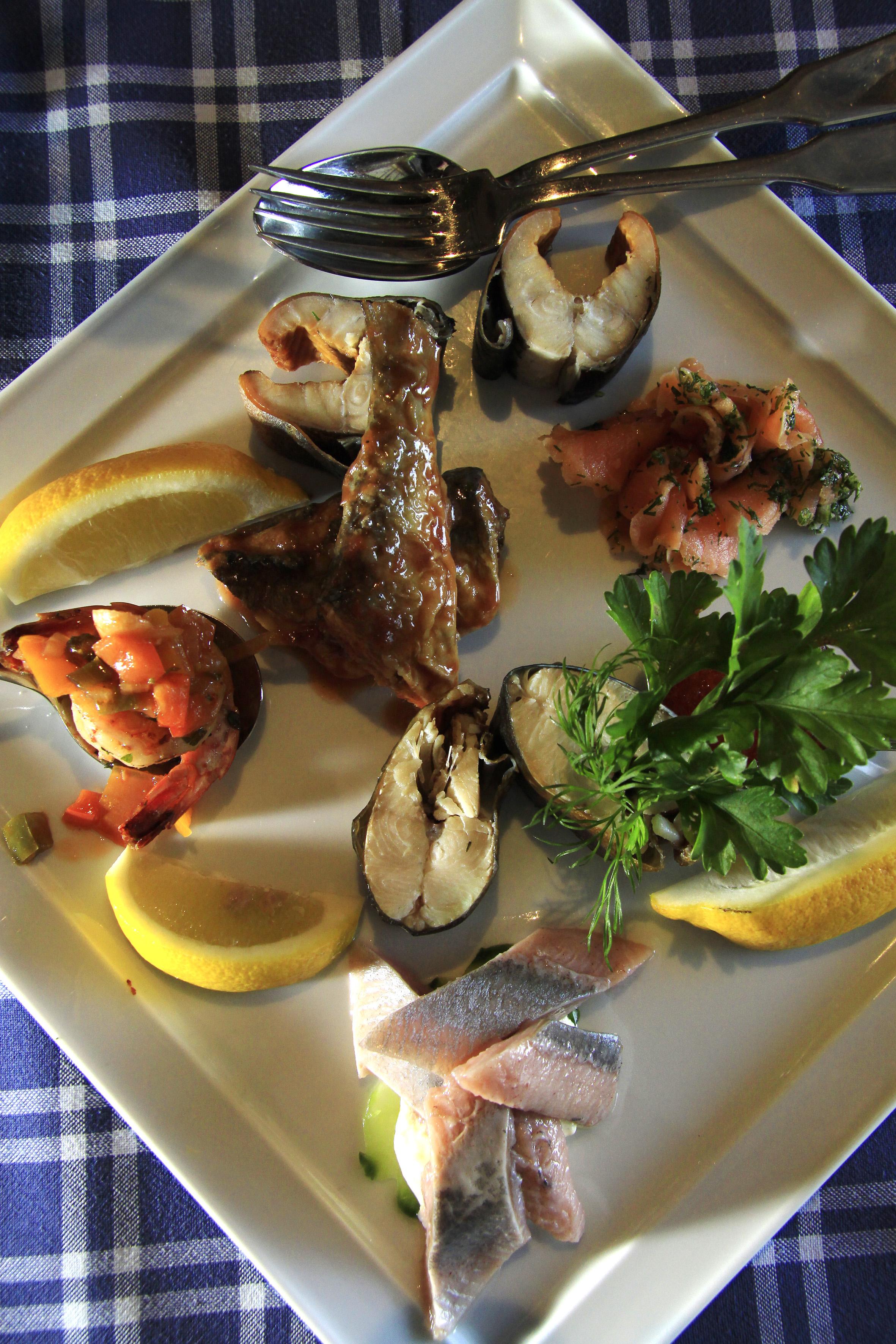 Gdanskissa syödään monipuolisesti Itämeren antimia silakasta turskaan.