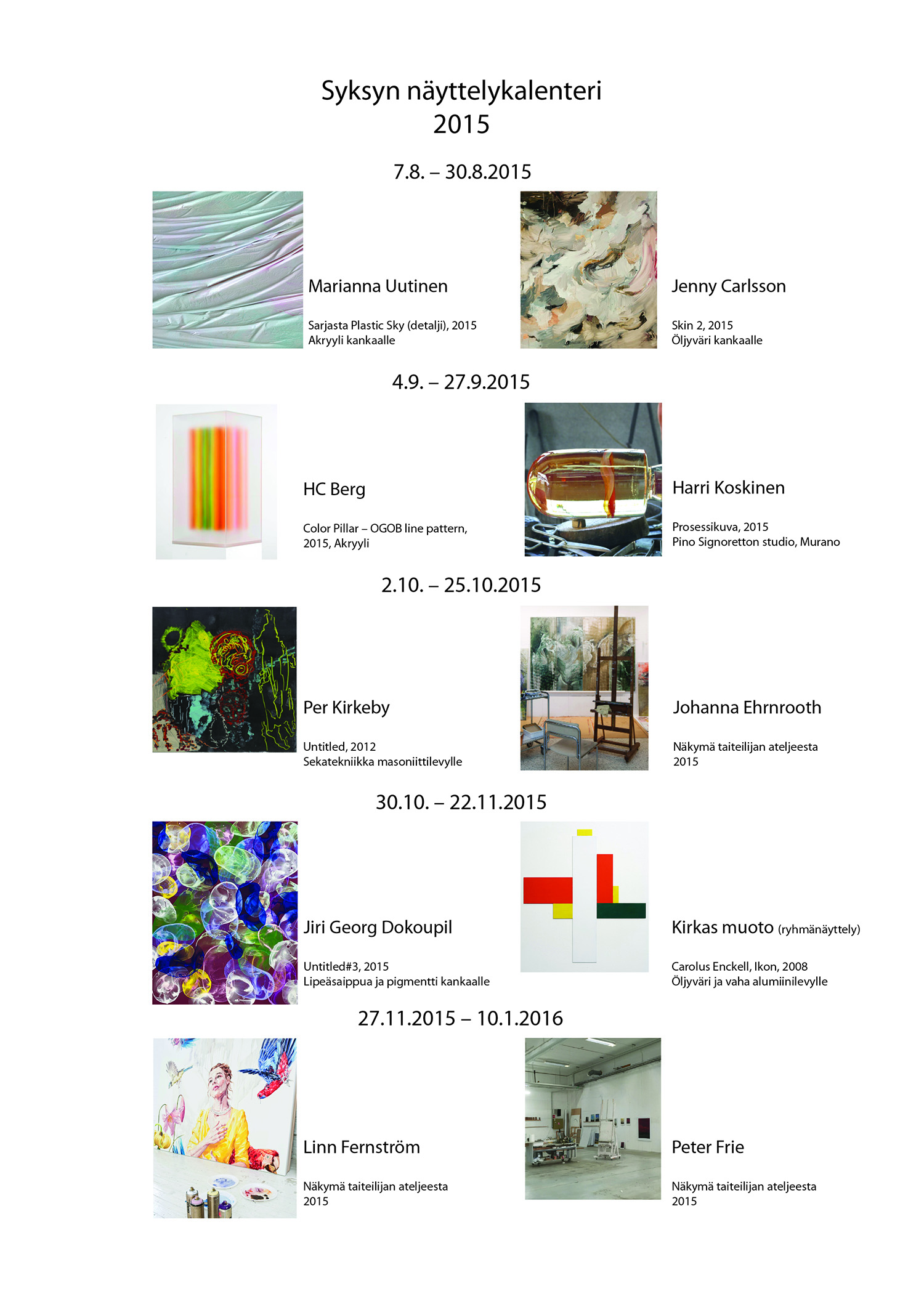 Näyttelykalenteri