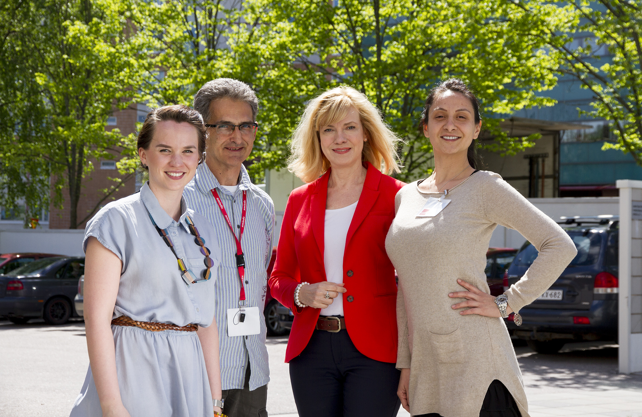 Amiedun edustajat ja vaihto-opiskelijat Romaniasta