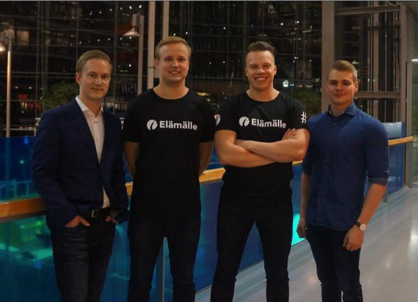 Kuvassa vasemmalta oikealle, Lauri Skön, Thomas Lindqvist, Tuomo Tarvainen ja Nico Paajanen.