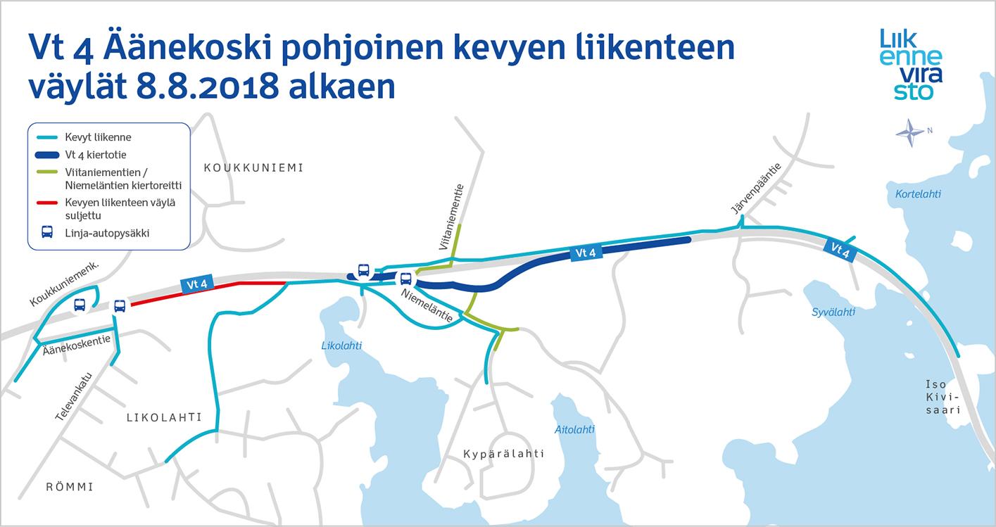 Vt 4 Äänekoski pohjoisen kevyen liikenteen väylät 8/2018