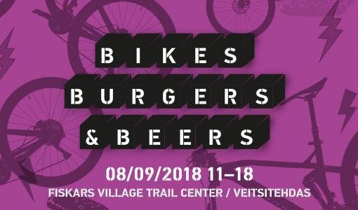 Bikes, Burgers & Beers – maksuton pyörätapahtuma jälleen Fiskarsissa 8.9.2018