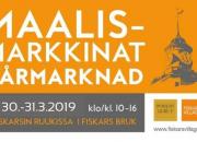 Tervetuloa Maalismarkkinoille 30.-31.3. klo 10-16 Fiskarsin Ruukkiin!