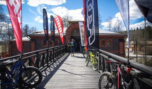 Suomen suurin pyöräalan messu- ja koeajotapahtuma, Fiskars Village Bike Expo, Fiskarsissa 4.5.2019