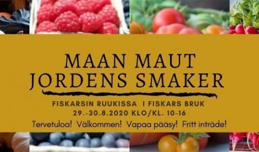 Närmat till höstborden - välkomna till Jordens Smaker i Fiskars Bruks torg 29.-30.8. kl. 10-16!