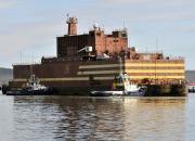 Kelluvaan Akademik Lomonosov -ydinvoimalaan on ladattu ydinpolttoaine