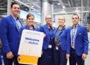 flydubain ensimmäinen lento laskeutuu Helsinkiin