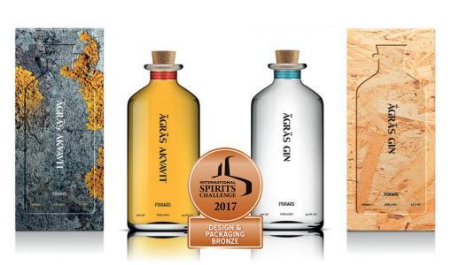 Kotimainen käsityöläistislaamo Ägräs Distillery rohmuaa kaksi palkintoa tuotteista ja yhden muotoilusta kansainvälisessä kilpailussa