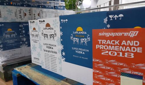 Laplandia Vodka Singaporen F1 -kisan viralliseksi yhteistyökumppaniksi