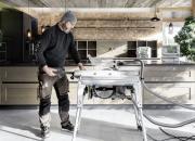 Näytä peukkua Euroopan ensimmäiselle SawStop-AIM-teknologialla varustetulle kannettavalle pöytäsahalle