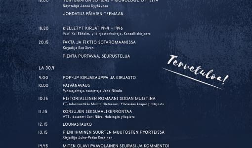 Sodan kosketus – Mikkelin I sotakirjallisuustapahtuma 29.- 30.9.2017