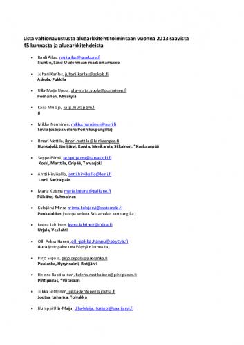 liite-safa-palkinto_lista-valtionavustusta-aluearkkitehtitoimintaan-vuonna-2013-saavista-45-kunnasta.pdf