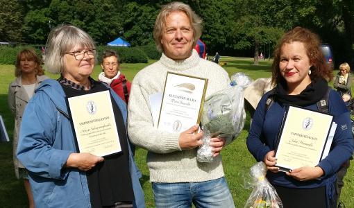 Ympäristöpalkinto Keskuspuistoryhmälle, Ympäristöavaus Juha Hurmeelle ja Kultainen sulka Petteri Saariolle