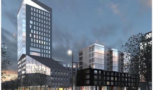 Espoon Suurpelto saa maamerkikseen 20-kerroksisen tornitalon