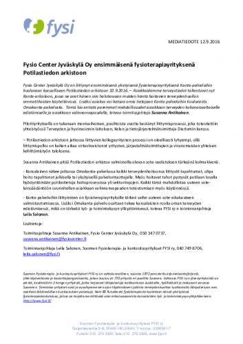 mediatiedote_fysio_center_ensimmaisena_fysioterapiayrityksena_potilastiedon_arkistoon.pdf