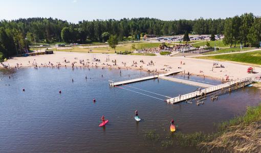 Löydä uusi harrastus Espoon Oittaalla: Melontaa, läskipyöriä, frisbeegolfia ja SUP-lautailua