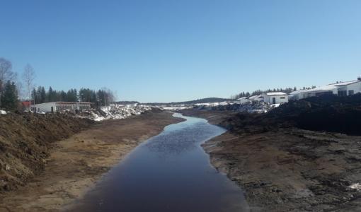 Pöyliöojan puistoalueen rakentaminen jatkuu Rovaniemen Pöykkölässä
