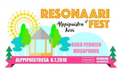 Resonaari Fest 8.7. Alppipuiston kesässä