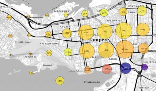 Keskusta-alueiden aktiivisuutta kuvaava elävyysindeksi mullistaa kaupunkisuunnittelun