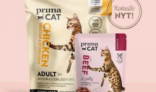PrimaCat lanseeraa uuden kissanruokavalikoiman - Helpota nirson kissasi ruokintaa