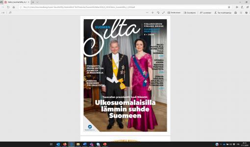 Tasavallan presidentti Sauli Niinistö: ULKOSUOMALAISET TÄRKEÄ VOIMAVARA SUOMELLE