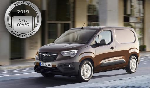 Uusi Opel Combo valittu Vuoden Pakettiautoksi 2019