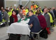 Taklagsfest på kompressorstationen firar byggarbetets tidtabellsenliga genomförande