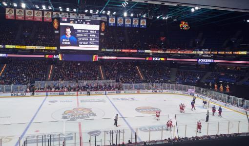 Wisehockey-älykiekkojärjestelmä Jokereiden kotihalliin Hartwall Arenalle – KHL:n runkosarjan otteluissa pelataan älykiekkoa
