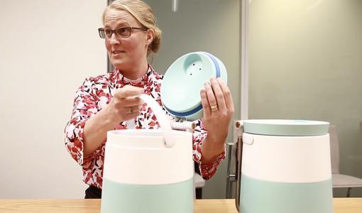 Eliminera röra och otrevlig lukt i ditt kök! En ny, innovativ bioavfallsbehållare gör återvinning rent och enkelt