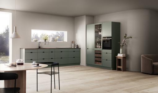 Kvikin uusi Ombra-keittiö on vihreä – sisältä ja ulkoa