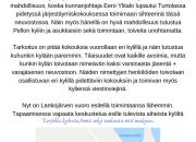 Meän kylien Pello-parlamentti koolla keskiviikkona 18.9 klo 18.00 Lankojärvellä