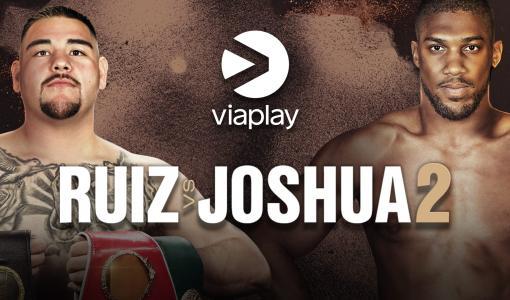Joshua vs. Ruiz uusintaottelu yksinoikeudella Viaplayssa