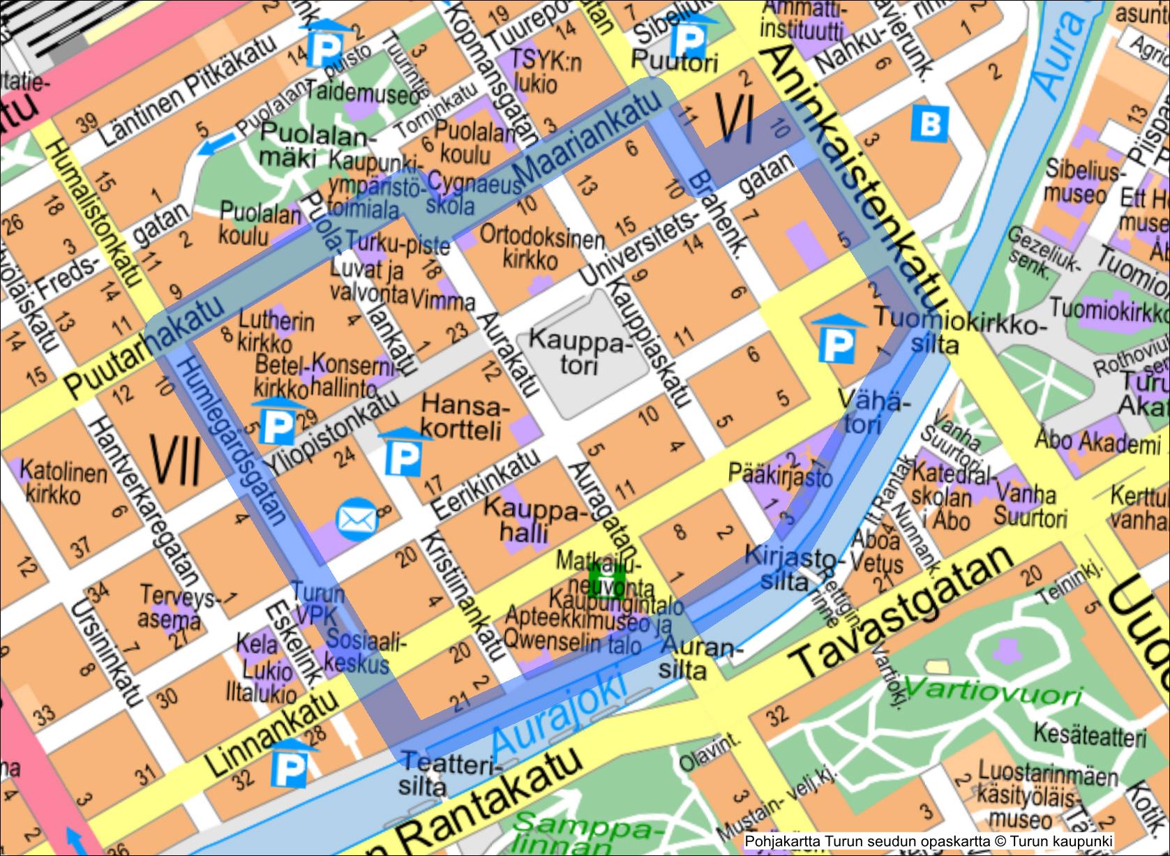Turun Kaupungin Kartta