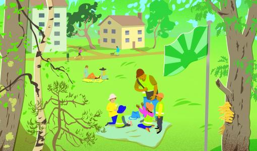 Katso Puunhalausviikon vinkit puiden kunnon seurantaan! Halaa puuta, arvosta lähiympäristöäsi 23.-29.8.2021