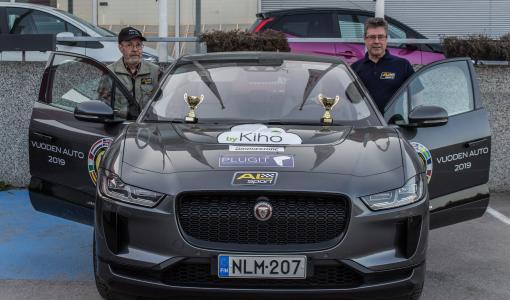 Jaguar I-PACE täyssähköauto luokkavoittoon taloudellisuusajossa