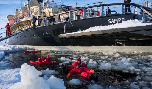 Matkailujäänmurtaja Sampo ei lähde joulukuussa liikkeelle
