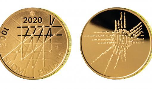 Uusi suomalainen kultaraha julkaistaan 28.2.2020