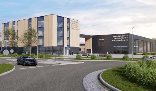 Oulunportin liikekeskus alkaa rakentua