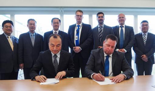 Euroports Finlandin ja Zhuhain kaupungin välinen yhteistyösopimus allekirjoitettiin