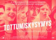 Historialliset Jussi-ehdokkuudet kaikkiaan seitsemälle ohjaajalle ja käsikirjoittajalle yhteisesti elokuvasta TOTTUMISKYSYMYS – kansainvälinen ensi-ilta Göteborgissa tammikuussa