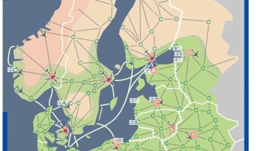 Tuore raportti: Miten lähestyä Itämeren alueen tulevaisuutta skenaarioiden pohjalta: Suomessa Pohjoisen kasvuvyöhykkeen alue osana Itämeren maiden rajat ylittävää keskinäisriippuvaista suurtalousaluetta.