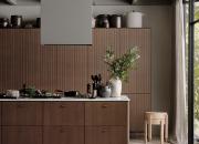 Uusi tummasävyinen Nordic Nature -keittiömallisto lainaa vahvan tunnelmansa tammimetsistä