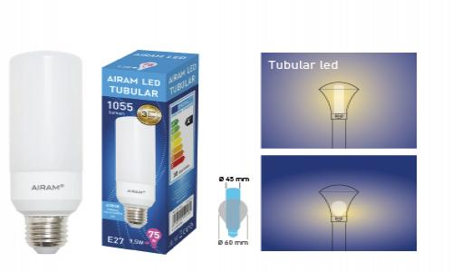 Tubular led-lamppu