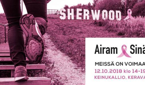 Roosa nauha tapahtuma Keravalla Sherwood goes pink 12.10.