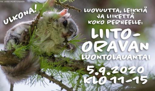 Liito-oravan luontolauantai la 5.9. Suomen luontokeskus Haltian ulkokentällä: Luvassa luovuutta, leikkiä ja liikettä koko perheelle