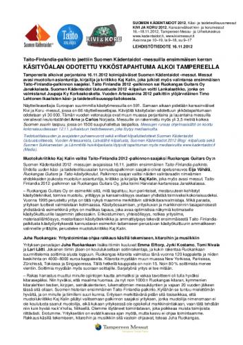 suomenkadentaidot2012_kivikoru_lehdistotiedote16112012.pdf