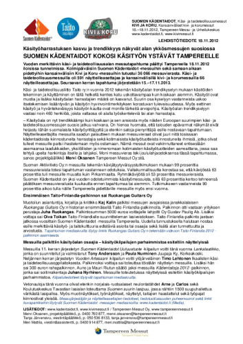 suomenkadentaidot2012_kivikoru_lehdistotiedote18112012.pdf
