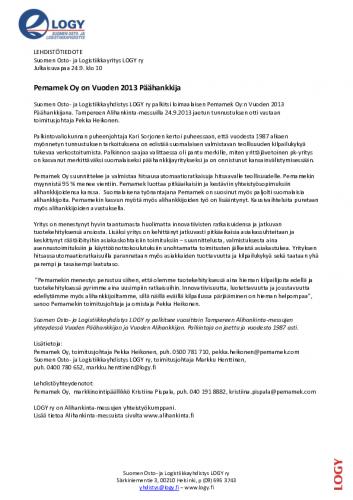 logy_tiedote_vuodenpaahankkija2013.pdf