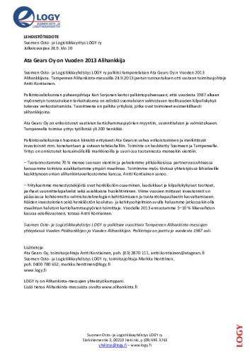 logy_tiedote_vuodenalihankkija2013.pdf