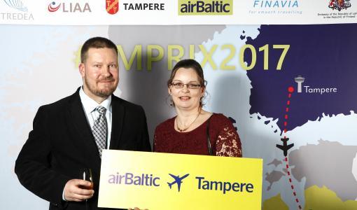 Tampereella juhlistettiin airBalticin uuden Tampere–Riika-reitin avausta